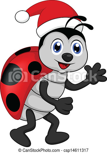 Christmas Ladybug Clipart