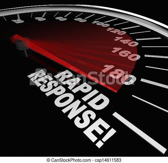 Rapid Response Speedometer Emergency Crisis Service - csp14611583