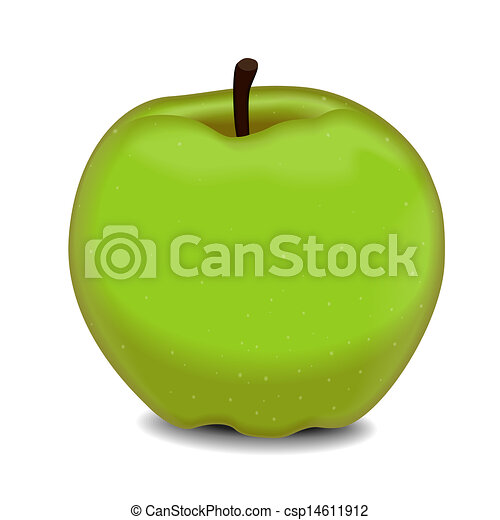 delicious green apple illustration - photo #4