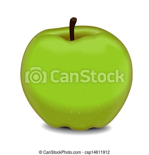 delicious green apple illustration - photo #4