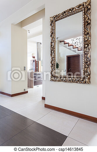 Photo de maison miroir couloir chic chic maison for Miroir couloir