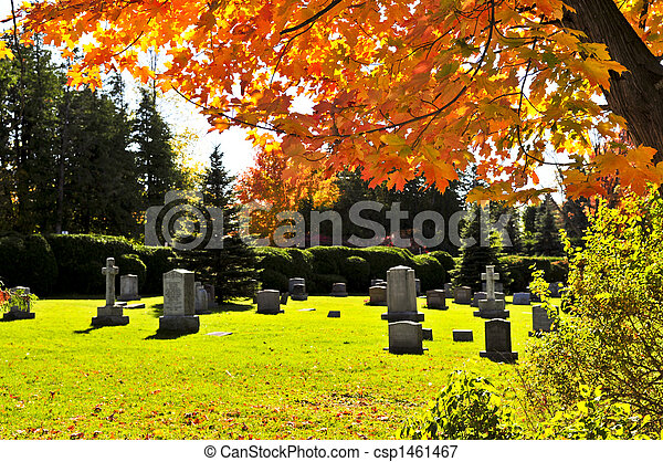 Graveyard with tombstones - csp1461467