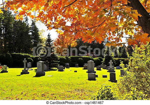 Graveyard with tombstones - csp1461467
