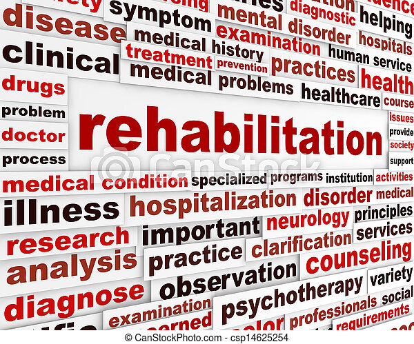 Rehabilitation medical message - csp14625254