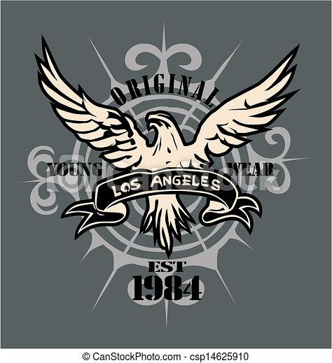 Vector Clip Art of vintage eagle csp14625910 - Search ...