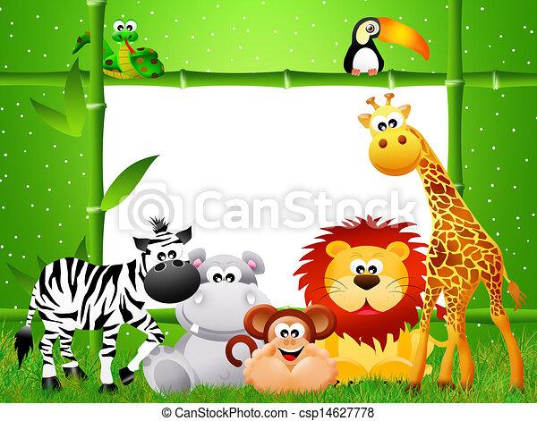 Stock de ilustraciones de zoo, animales, caricatura csp14627778 ...