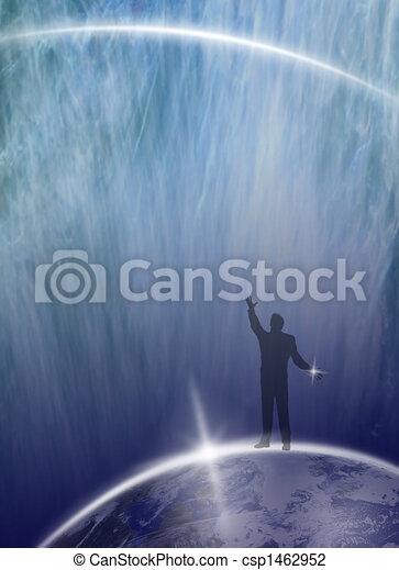 Human being asking Universe... - csp1462952