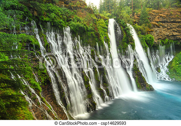 Burney Falls waterfall in California near Redding - csp14629593