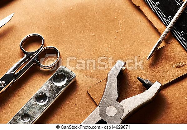 真皮, 精心制作, 工具 - csp14629671