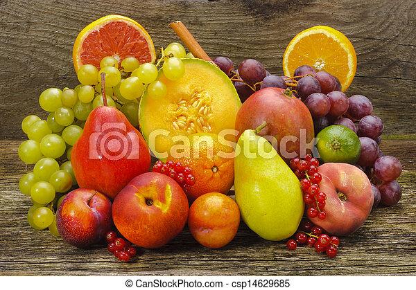 group fresh mixed fruits - csp14629685