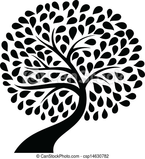 Tree silhouette Vector Clip Art EPS Images. 77,730 Tree silhouette ...