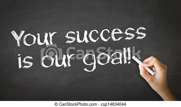 Your Success is our goal Chalk Illustration - csp14634044
