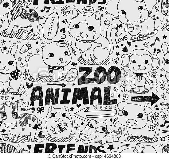 seamless animal pattern - csp14634803