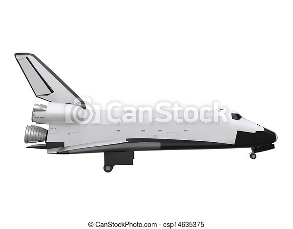 Space Shuttle Isolated - csp14635375