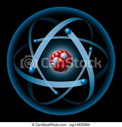 Atom Having Nucleus And Electrons - csp14635994