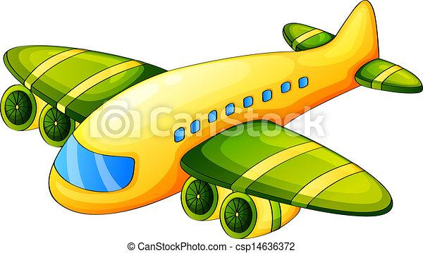 An airplane - csp14636372