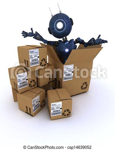 机器人, 航运, 盒子 - csp14639052