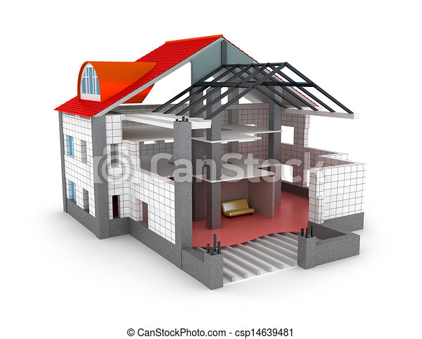 Design  Home on Stock Illustration   Architecture Plan House Isolated   Stock