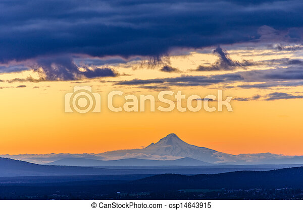 Sunset over Mt. Hood - csp14643915