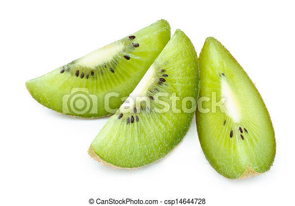 Kiwi Fruit Close Up isolated - csp14644728