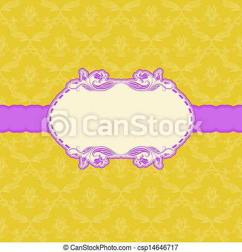 Template frame design for greeting card . - csp14646717