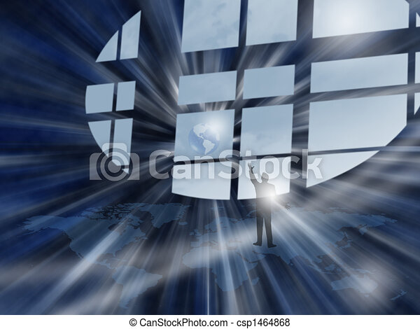 Window over the World... - csp1464868