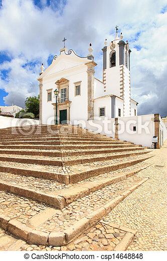 Portuguese Church landmark Igreja de Sao Martinho de Estoi as known as Matriz de Estoi, Faro province Algarve, Portugal - csp14648848
