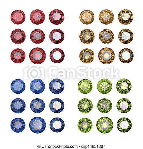 how to draw a garnet gemstone