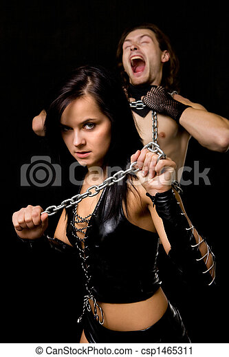 Stock Fotografie von modern, Sklaverei - hübsch, frau, in