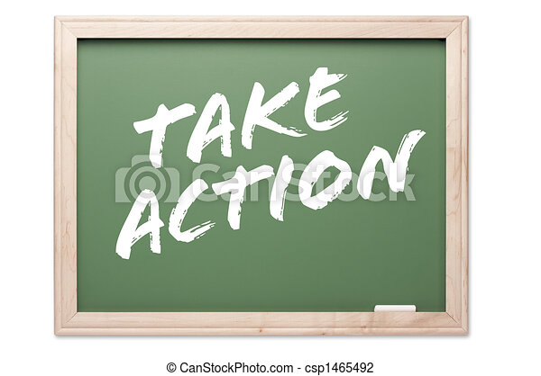 Chalkboard - Take Action - csp1465492