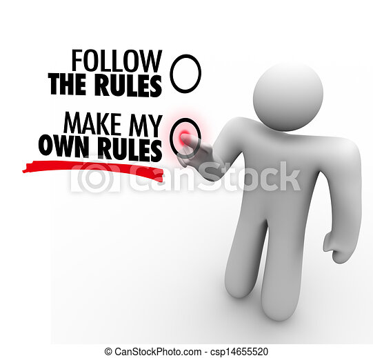 Clip Art Of Follow Or Make My Own Rules Vote Choose