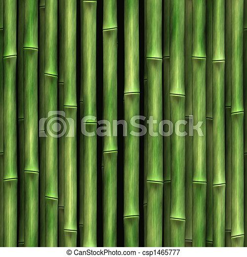 mur, bambou - csp1465777