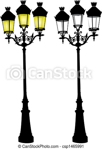 Retro street lamp - csp1465991
