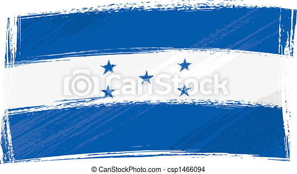 grunge, bandera, honduras - csp1466094
