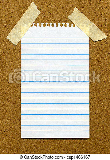 Paper on noticeboard. - csp1466167
