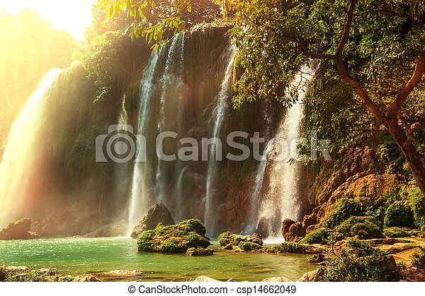 Waterfall in Vietnam - csp14662049