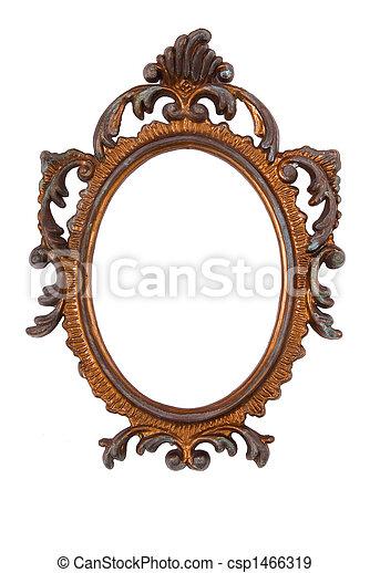 Retro Revival Old Ellipse Frame - csp1466319