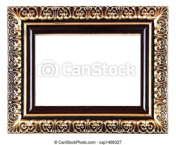 image de retro renaissance vieux or cadre vieux or image csp1466327 recherchez des. Black Bedroom Furniture Sets. Home Design Ideas