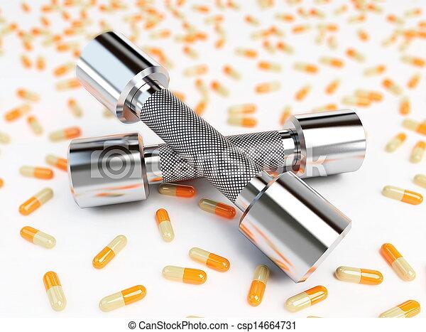 fitness or diet pills - csp14664731