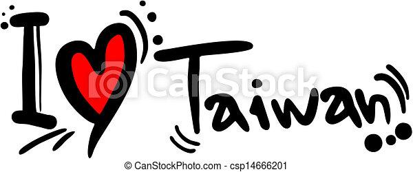 Taiwan Logo Design Creative Design of Taiwan Love