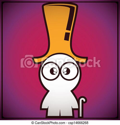 Clip Art Vector of Funny old man in hat - cartoon illustration ...