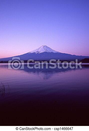 Mt Fuji Dawn Reflection - csp1466647