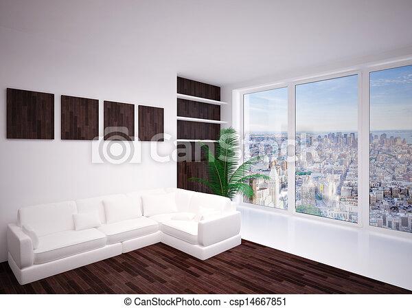 Modern  interior living room, lounge - csp14667851