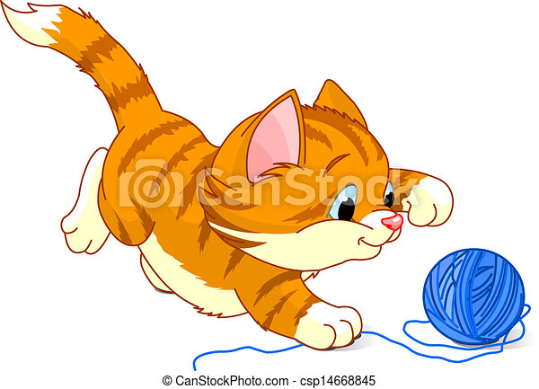 eps vector of playful kitten kitten playing with yarn kitten clipart gif kitchen clipart free