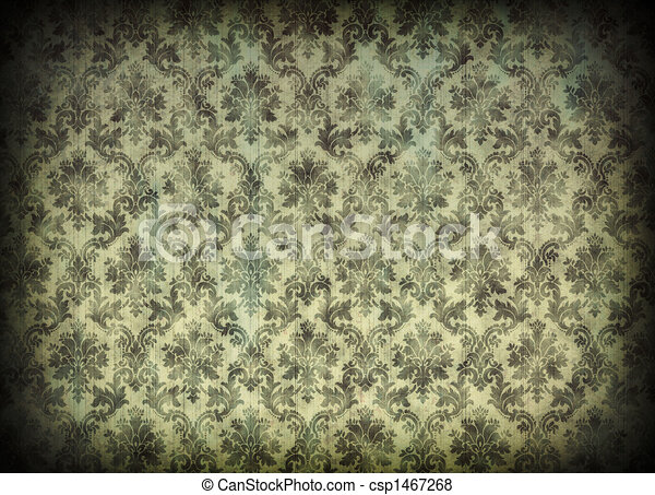 Vintage damask wallpaper - csp1467268