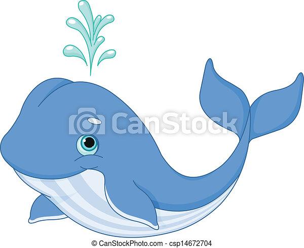 Whale Cartoon - csp14672704