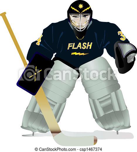 Dessin de hockey gardien de but dur f ch regarder - Gardien de but dessin ...