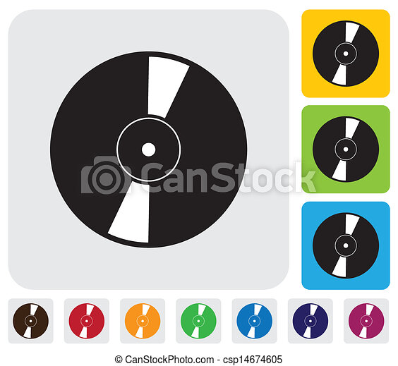 Vector Clipart of CD or DVD for data storage icon(symbol)- simple ...