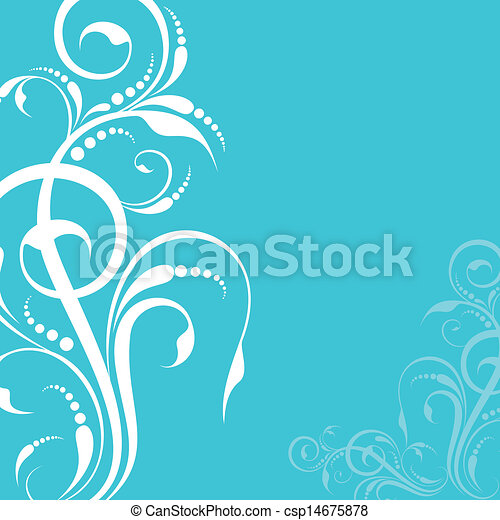 creative floral design background - csp14675878