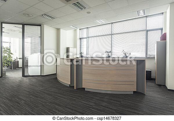 escritório, recepção - csp14678327